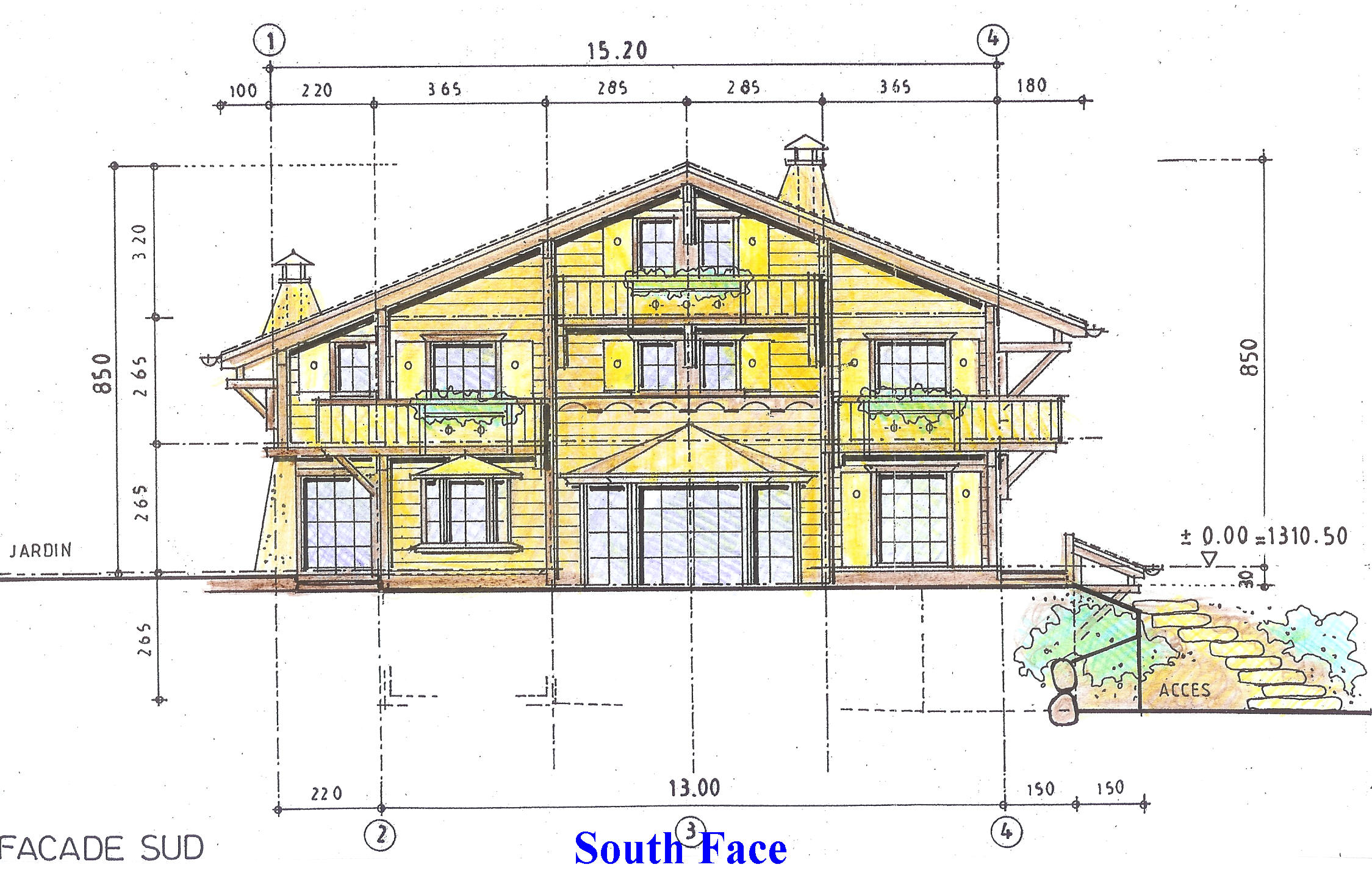 Residential chalets in villars for French chalet house plans